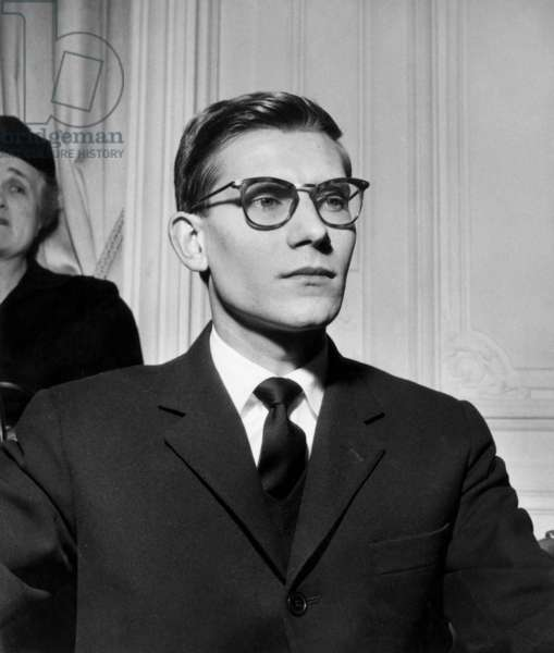 Young Fashion Designer Yves Saint Laurent Is Chosen As Christiandior'S Successor during Press Conference November 15, 1957 (b/w photo)