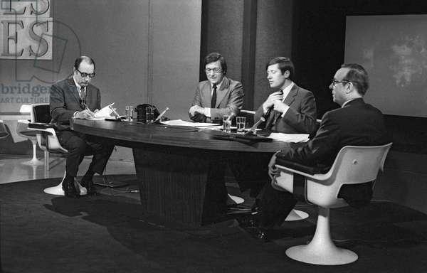Debate between Francois Mitterrand and Michel Debre during tvprogram