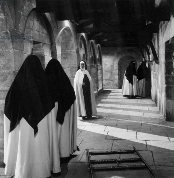 """Jeanne Moreau in a scene from the film """"Le dialogue des Carmelites""""  9 october 1959"""