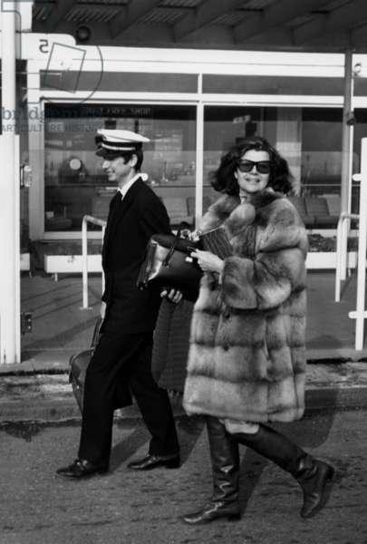 Rita Hayworth, Cote d'Azur, January 1967 (b/w photo)