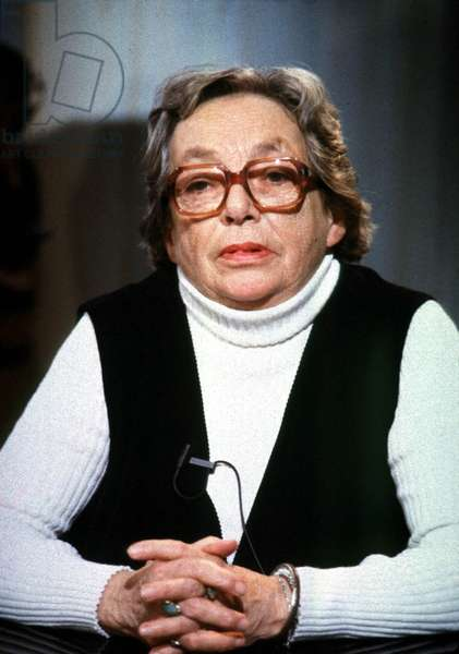 Marguerite Duras (1914-1996) French Author and Filmaker here on October 1St, 1984 (photo)