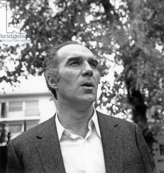 Michel Piccoli on April 18, 1968 on Set of Film La Chamade (b/w photo)