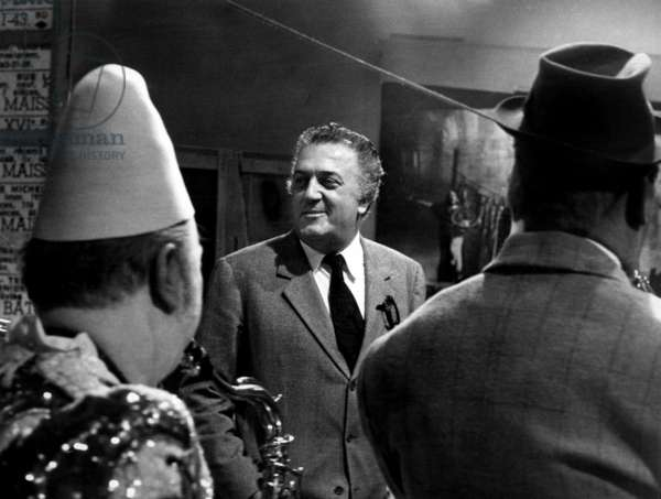 "Italian Director Federico Fellini Promoting his Film ""Satyricon"" at Television, Paris, December 1St, 1969 (b/w photo)"