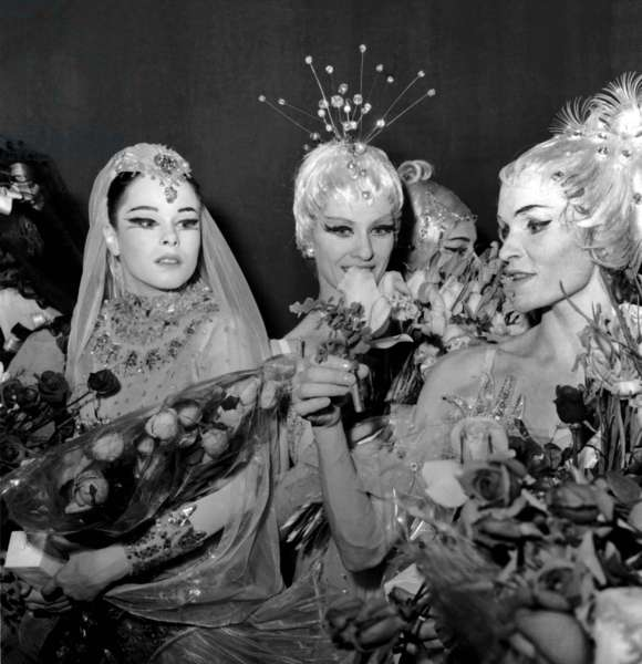Geraldine Chaplin With Soviet Dancers Tessa Beaumont and Galina Samsova After Performing Ballet