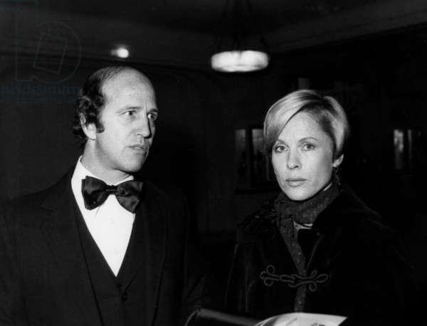 Sergio Gobbi And The Swedish Actress Bibi Anderson A Unesco At The Gala Organize On The Occasion Of The Depart Of Mr Rene Maheu Who Teach His Position As Director General On November 7, 1974 (b/w photo)