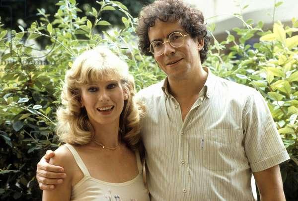 Le telefilm L'amour sage avec Amelie Prevost (Annie) et Henri Courseaux (Nicolas) en mars 1984. (photo)