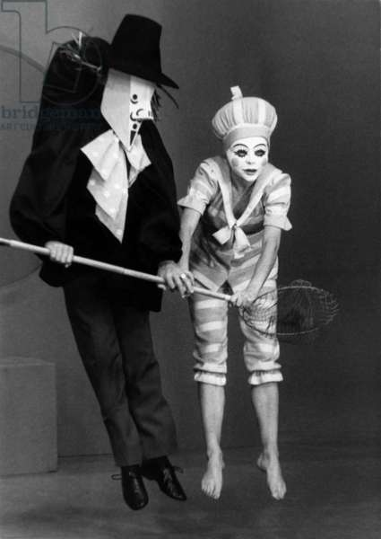 The Eiffel Tower Maries Show By Jeanchristopheaverty With Here A Sequence With Characters Costumes And Masks Who Are Other Than The Dancers Of The Ballets By Jean Guelis. August 27, 1973 (b/w photo)
