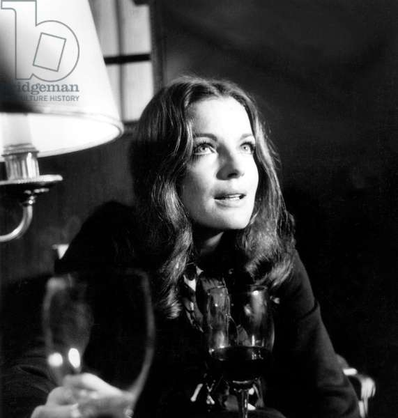 Romy Schneider on January 10, 1970 (b/w photo)