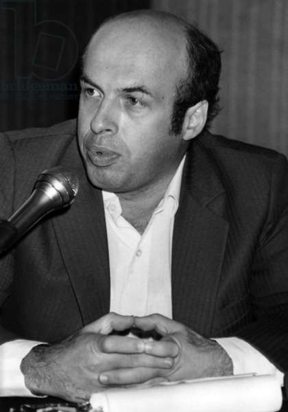 Anatoly Shcharanski Ex-Refusnik Released Sovietique Camps After 9 Months of Internment at a Press Conference Organised in Paris September 12, 1986 (b/w photo)