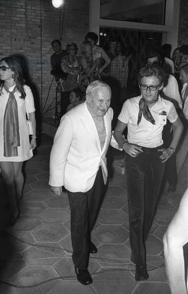 Joan Miro's arrival at the Maeght Foundation in Saint Paul de Vence on July 29, 1969
