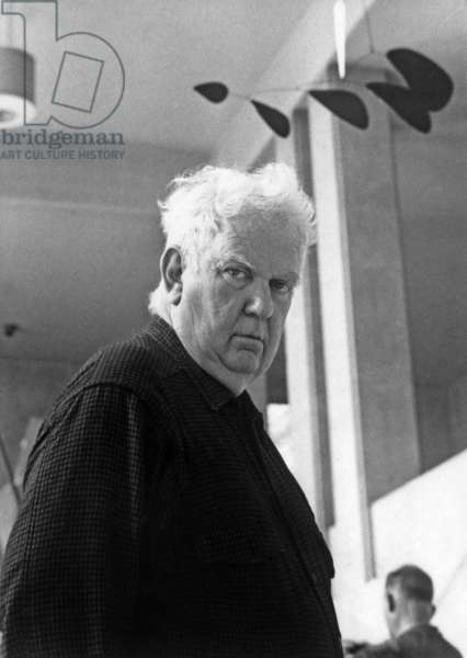 Alexander Calder (1898-1976) American Sculptor With His Mobiles C.1970