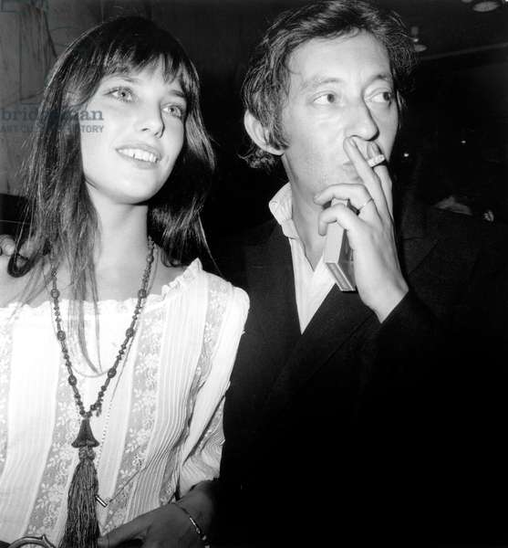 Jane Birkin Et Serge Gainsbourg on September 3, 1970 at Premiere of Film Cannabis