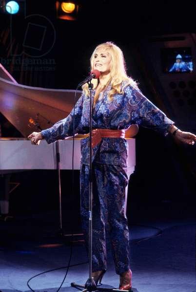 Singer Dalida (1933-1987) on Stage C. 1975 (photo)