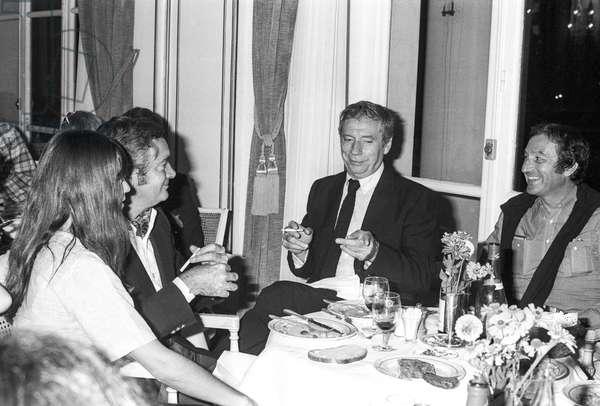 Film festival, France, SEptember 6, 1976 : Yves Montand (b/w photo)