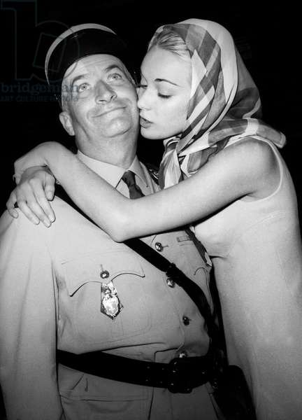 Le Gendarme a New York de JeanGirault avec Louis De Funes et Genevieve Grad le 4 mai 1965  Neg:C12123 (b/w photo)
