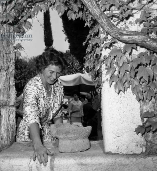 Cannes Film Festival : Actress Ingrid Bergman, May 17, 1961 (b/w photo)
