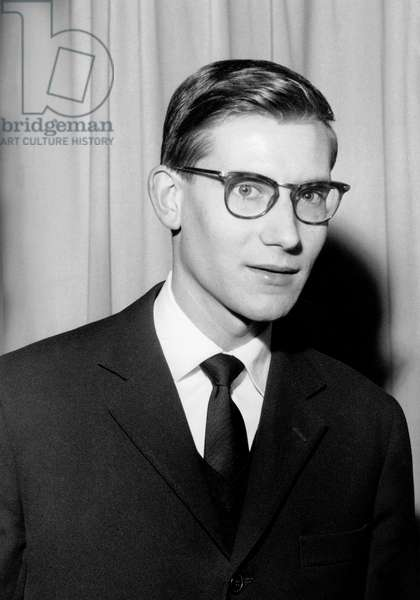 Young Fashion Designer Yves Saint Laurent Is Designated As Christiandior'S Successor during Press Conference November 15, 1957 (b/w photo)
