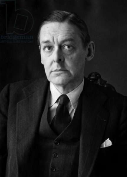 Thomas Stearns Eliot (T.S. Eliot 1888-1965) English Poet and Playwright C. 1948 (b/w photo)