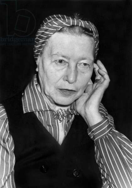 Simone De Beauvoir on June 12, 1978 (b/w photo)