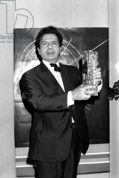 French Actor Michel Galabru Receiving Best Actor Prize For his Part in The Film The Judge and the Assassin February 21, 1977 (b/w photo)
