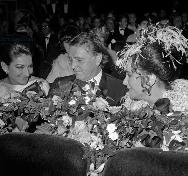 Maria Callas Richard Burton et Liz Taylor