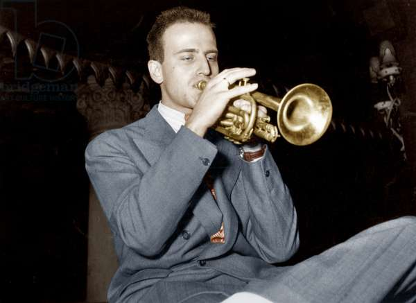 French Poet and Trumpet Jazzman Boris Vian (1920-1959) during Jazz Festival in Paris May 04, 1949 (photo)