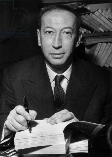 Georges Govy, Prizewinner of Theophraste For his Book Moissonneur D'Epines in Paris, December 1955 (b/w photo)