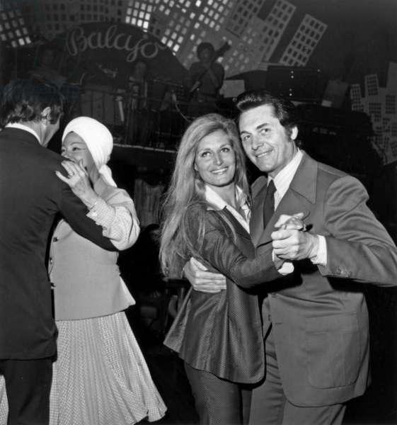 Dalida and Andre Verchuren May 22, 1973 at The Balajo (Nightclub), Paris (b/w photo)