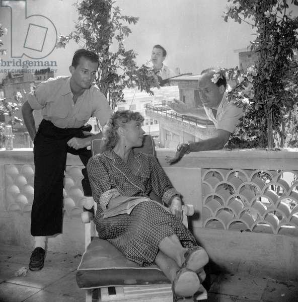 Actors Francois Patrice, Vera Norman on set of film