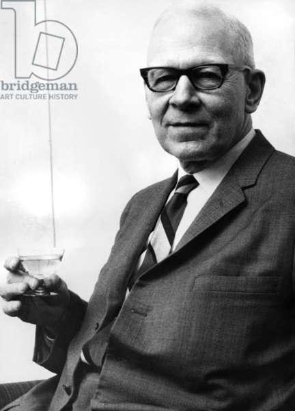 Robert Sanderson Mulliken, Nobel Prize in Chemistry in 1966. (b/w photo)