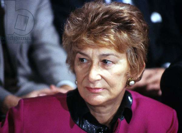 French Minister in Charge of Women'S Rights in The First Francoismitterrand Government here in 1983 (photo)