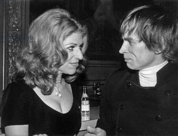 "Baroness Marie-Helene De Rotschild (C) and Rudolf Noureev at Performance of Opera ""Don Quixote"" at The Opera De Paris (Unesco Gala) January 11, 1974 (b/w photo)"