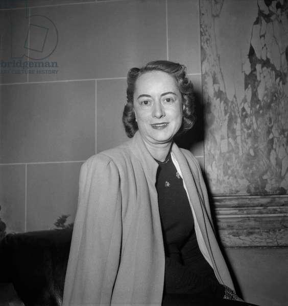 """Prix des lecteurs 1949"" (literary prize) : French writer Claude Longhy (b/w photo)"