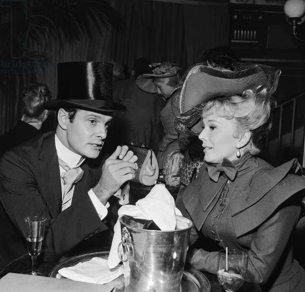 Eva Gabor and Louis Jourdan
