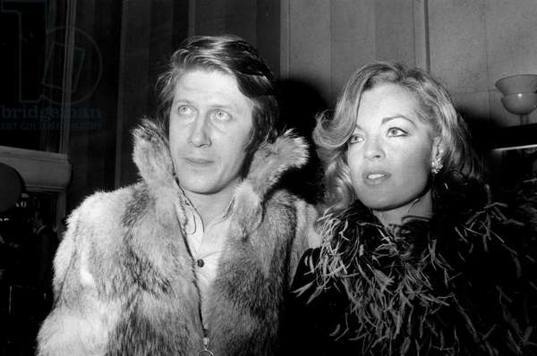 Jacques Dutronc and Romy Schneider at Premiere of Film