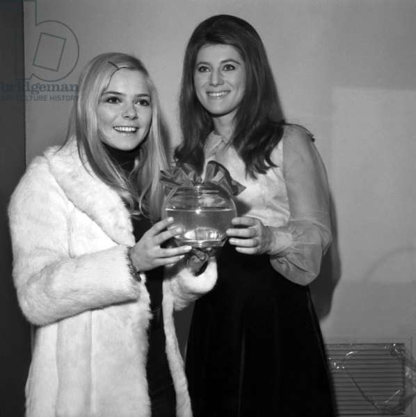 French Singers France Gall and Sheila at TV Programme