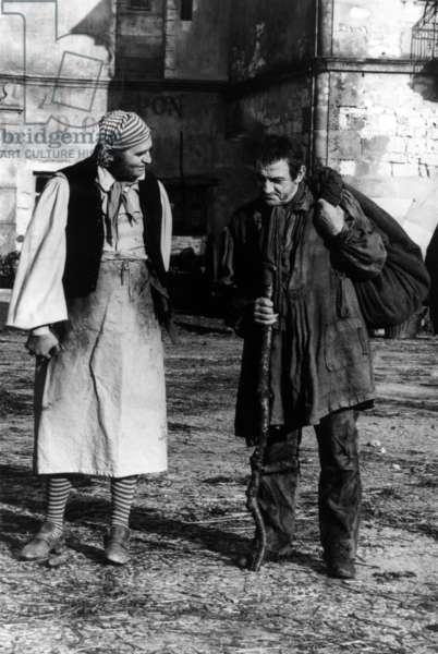 Les Miserables De Robert Hossein Avec Roger Hanin Et Lino Ventura (Jean Valjean) 1982 (D'Apres Victorhugo) (b/w photo)