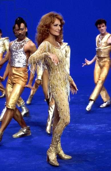 French Singer Dalida on Tv Show 1984 (photo)
