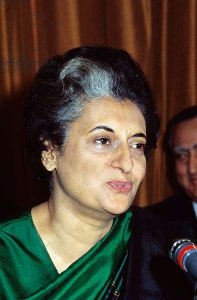 Indira Gandhi, Indian Prime Minister, here in Paris November 1971 (photo)