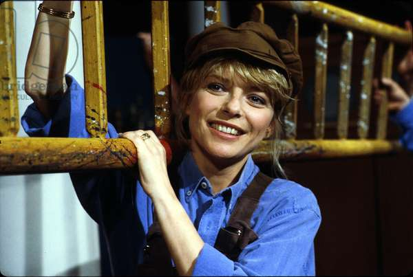 French Singer France Gall in TV Programme Salut Les Mickeys C. 1984 (photo)