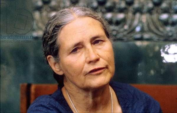 Doris Lessing English Feminist Novelist here in August 1987 (photo)