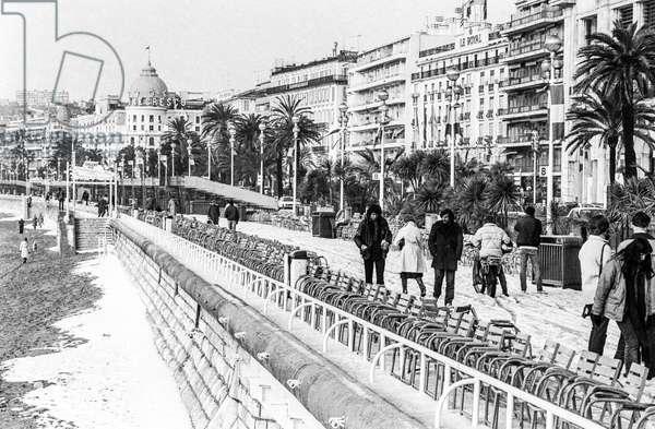 La neige sur la Promenade des Anglais