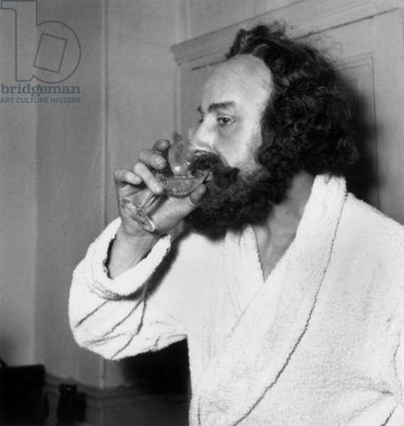 Premiere By Karl Marx Pierre Dux January 28, 1948 (b/w photo)