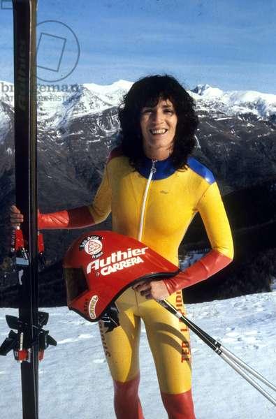 Cathy Brayton World Champion of Speed Ski November 1982 (photo)