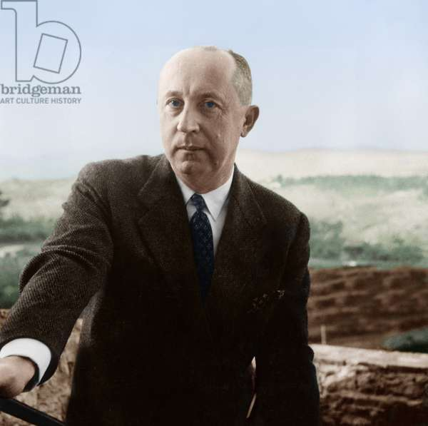 French Couturier Christian Dior (1905-1957) on October 25, 1957, (photo)