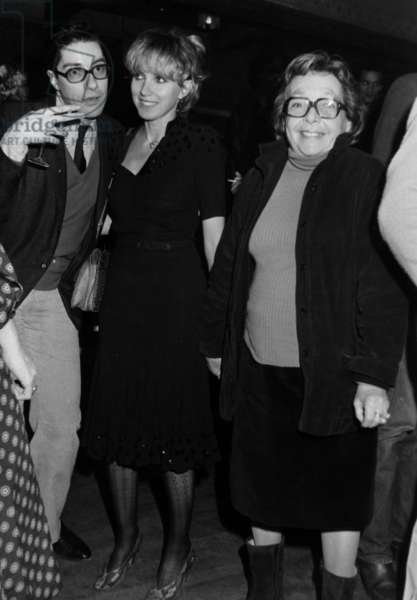 Bulle Ogier and Marguerite Duras For Ingridcaven'S Concert at The Palace in Paris March 20, 1980 (b/w photo)