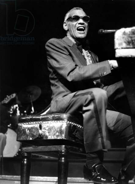 Jazz and Blues Singer and Pianist Ray Charles on Stage at The