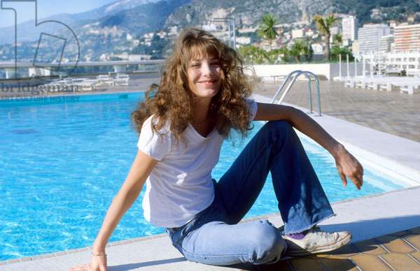 Jane Birkin on the Cote d'Azur, February 1978 (photo)