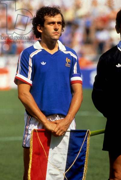 French Footballer Michel Platini, June 1986 (photo)