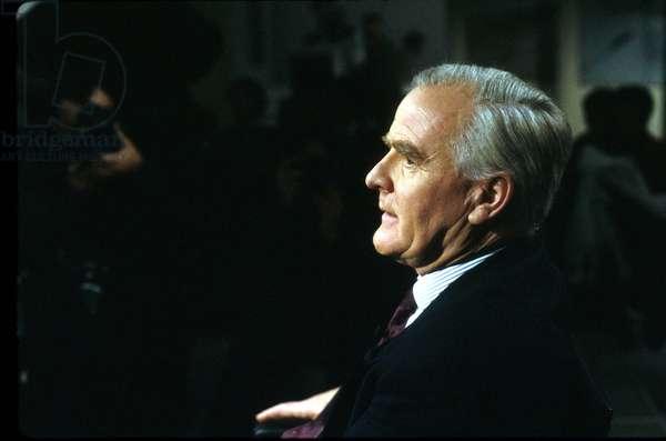 David John Moore Cornwell Aka John Le Carre, English Writer, here during TV Programme in November 1989. (photo)